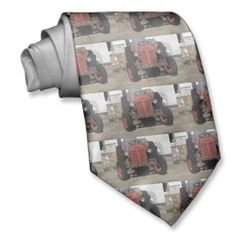 #Retro #Tractor Neck Ties!  Feel free to add text and change the graphic in this #customizable #tie!  That's a lot for $32!  #mens #apparel http://www.zazzle.com/dww25921*