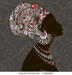 african woman silhouette | African woman silhouette Stock Photos, Illustrations, and Vector Art