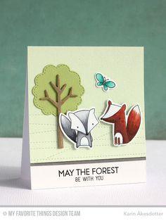 Stitched Strip Die-namics, Forest Friends, Forest Friends Die-namics, Tree-mendous Die-namics - Karin Åkesdotter #mftstamps