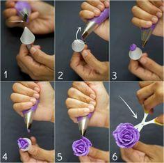 aigre-doux: Apprenez à faire des fleurs de beurre Rose