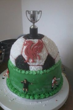 A 50th birthday cake for a big Liverpool fan!