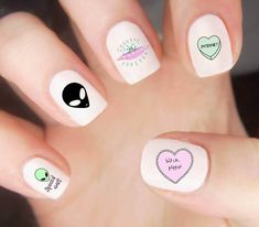 Want some ideas for wedding nail polish designs? This article is a collection of our favorite nail polish designs for your special day. Cute Nail Art, Cute Nails, Pretty Nails, Nail Polish Designs, Nail Art Designs, Nails Design, Alien Nails, 3d Nails, Minion Nails