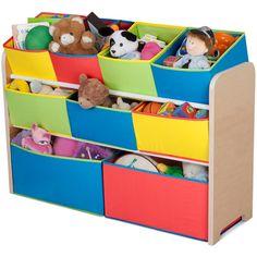 Delta Multi-Color Deluxe Toy Organizer with Bins