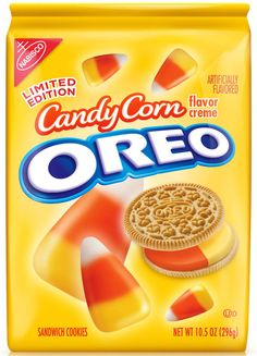"Candy Corn Oreo Cookies By Nabisco. ""Perfect for those Oreo lovers that want a new tast treat experience. My friend loved them. Too sweet for me! Halloween Cookies, Halloween Candy, Halloween Season, Happy Halloween, Halloween Costumes, Halloween 2013, Funny Halloween, Halloween Decorations, Sandwich Cookies"