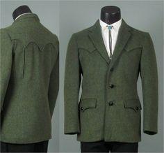 Vintage 1960s Mens Jacket  Tregos Westwear Dark by jauntyrooster, $104.99