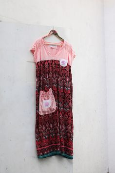 L Mandala Bohemian Dress Women's Upcycled recycled by SaidoniaEco