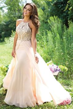 Gorgeous nude prom dress