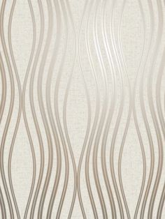 This beautiful Quartz Wave Wallpaper will add a stylish finishing touch to most rooms of your home. The design features an elegant curved pattern of wavy lines with a metallic rose gold finish and glitter detailing. This is set on a matte paper in a soft pale cream tone that is infused with glitter particles and has a textured fabric effect finish. This high quality vinyl wallpaper could be used to create a feature wall or to decorate an entire room. Rose Gold Wallpaper, Waves Wallpaper, Geometric Wallpaper, Vinyl Wallpaper, Pattern Matching, Wave Design, Cream Roses, Stylish Home Decor, Line Patterns