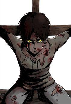 Attack on Titan ~~ Bound body. Defiant eyes. :: Eren Jaeger
