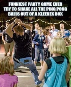 LOL perfect game for embarrassing the groom and groomsmen!
