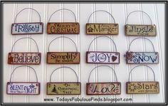 Printable Paint Stick Ornaments {Tutorial}