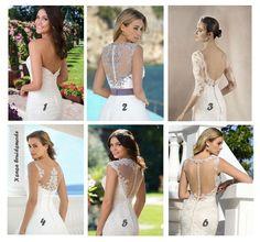 Wat is jouw favoriete rugpand? #trouwjurk Laat het ons weten ....