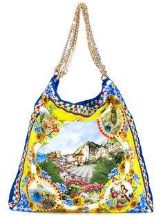 DOLCE & GABBANA | Sicilia Print Silk Tote Bag | Womenswear | Browns Fashion