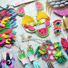 So many colorful pieces available in the shop. Here are a few of my favorites!