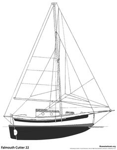 [ The Falmouth Cutter 22 Sailboat Bluewaterboats Org ] - Best Free Home Design Idea & Inspiration Sailboat Yacht, Yacht Boat, Boat Building Plans, Boat Plans, Yacht Design, Boat Design, Boat Sketch, Small Sailboats, Classic Sailing