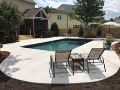 Parrot Bay Pools and Spas  Cary, NC Inground Swimming Pool Vinyl over step