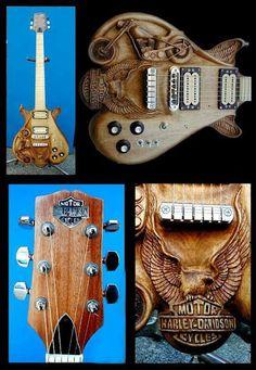 Harley Davidson guitar