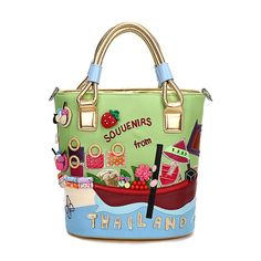 46.66$  Watch now - http://ali4t5.worldwells.pw/go.php?t=32703426378 - 2016 Bailar hand made totes messenger women handbag creative high capacity embroidery flower hit color splice famous brand 7052 46.66$