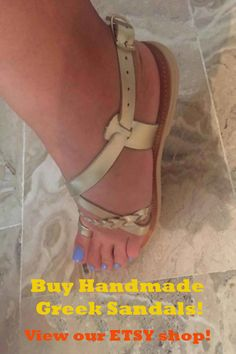 Greek leather sandals by GreeksandalsPenelope Greek Sandals, Gold Sandals, Brown Sandals, Beach Sandals, Gladiator Sandals, Bridal Sandals, Leather Workshop, Beautiful Sandals, Leather Sandals Flat