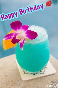 HBD tropical drink