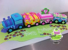 CHOO CHOO .... GIRLS TRAIN CAKE
