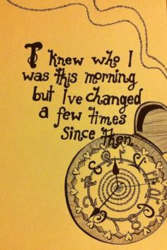 I've started drawing again, after 3 years off. Started with a lovely little alice in wonderland quote. BH x