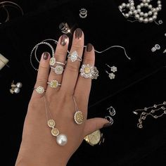 draped in diamonds from our Geelong showroom. Bespoke Jewellery, Dress Rings, Jewelry Stores, Showroom, Diamonds, Jewelry Design, Rose, Bracelets, Pink