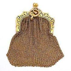 Victorian Era Antique Coin Purse Solid 18K 12K Gold