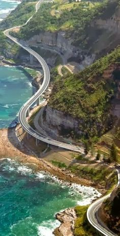 "Great Ocean Road, Australia. Built by returned soldiers between 1919 and 1932- dedicated to those killed during World War I, making the road the world's largest war memorial. The road passes by many famous natural landmarks, including the famous limestone formations known as the ""Twelve Apostles."""