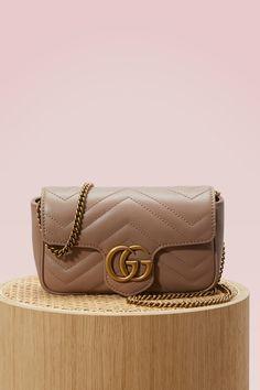 GUCCI GG Marmont matelassé super mini bag. #gucci #bags #shoulder bags #