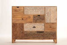 Design convenient wood 7 drawer 2 door by sweetmangofrance on Etsy