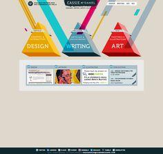 Modern, simple & colorful web design