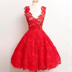 Lace Prom Dresses A -Line Knee- Length Party Dress Prom Dresses