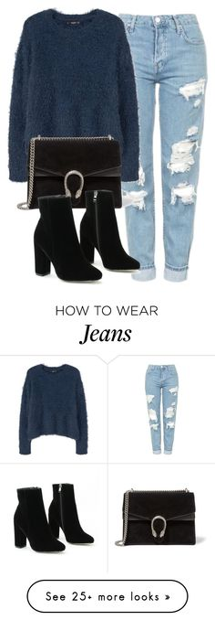 """Untitled #6172"" by laurenmboot on Polyvore featuring Topshop, MANGO and Gucci"