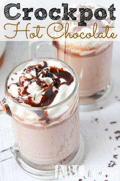 This easy and delicious Crockpot Hot Chocolate Recipe is perfect for Christmas morning! - abccreativelearning.com