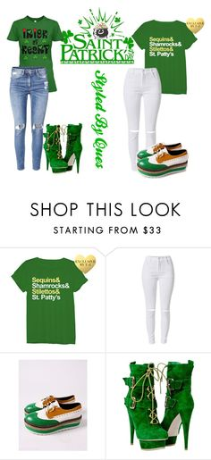 """Happy Saint Patrick Day"" by markesawright ❤ liked on Polyvore featuring H&M"