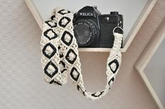 Macrame off white purse strap Woven boho bag strap Replacement natural cotton cord shoulder strap Gift with hearts Replacement camera strap Macrame bag strap White and black cotton rope strap Camera accessories Instrument strap Photography lovers gift Macrame Bag, Macrame Knots, Diy Macrame Wall Hanging, Macrame Mirror, Macrame Curtain, Camera Purse, Camera Gear, Cotton Cord, Woven Cotton