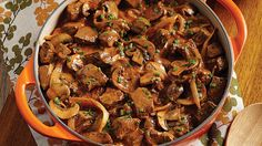 A rich, creamy beef stroganoff. This recipe uses boneless blade steak, cremini mushrooms, that is then thickened with sour cream. Try this recipe for dinner tonight.
