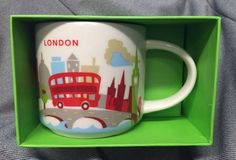 Starbucks London YAH Mug Red Bus Big Ben St Paul England UK New Cup You Are Here #Starbucks
