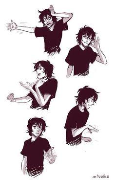 Nico's hand gestures.