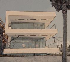 En Los Angeles, California    Modernos edificios sobre la playa...ideales para jugar con los efectos que brinda mi cámara.