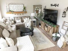 Home living room, living room with rug, small living room sectional, Small Living Rooms, New Living Room, Living Room Designs, Small Living Room Layout, Small Family Rooms, Tv Room Small, Small Living Room Sectional, Modern Living, Living Room Wall Decor Ideas Above Couch