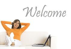 Welcome Wall Decal - Great Decor for your Foyer