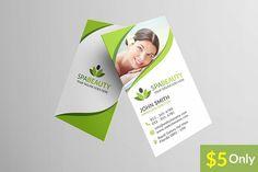 Beauty Spa Business Card  @creativework247