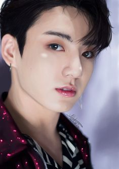 Portrait of the Kpop band (BTS) member Jungkook using the software Medibang Pro Diego Garcia, Caribbean Netherlands, Congo Kinshasa, Blackpink And Bts, Line Friends, Digital Portrait, Ivory Coast, Shiro, Bts Jungkook