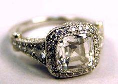This ring looks kinda similar to mine! Vintage wedding ring.