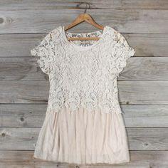 Boheme Lace Tunic in Cream