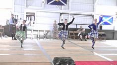 Fling at Ohio Highland Games 2014. On the left - kilt with black vest #scott #green #tartan
