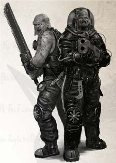 Warhammer 40k - Pirates - Chaos Reavers - Chainsword - Shotgun - Voidsuit