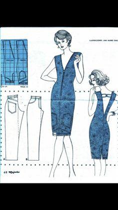 Naai ideetje: een jurk maken van een oude broek.